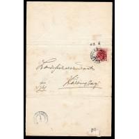 TJ.48, Tjänste vm linje, BILLESHOLMS GRUFVA 31-1-19 tjänste brev använt två gånger