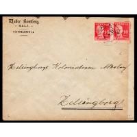 F.149A, 10 öre Gustaf V - en face, MALÅ 1-4-21 [W/D], brev till Helsingborg