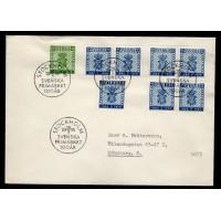 F.467-468, Svenska frimärket 100 år, STOCKHOLM 16-5-55, FDC