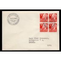 F.372BB, 20 öre Alfred Nobel, STOCKHOLM 10-12-46, FDC