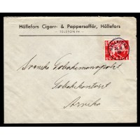 F.248A, 15 öre Postverket 300 år, HÄLLEFORS 24-3-36 [T/VÄS]
