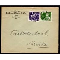 F.246+247, 5+10 öre Postverket 300 år, TORSBY 8-7-36 [S/VÄR]