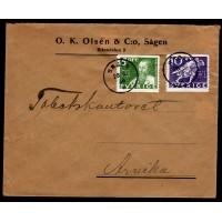 F.246+247, 5+10 öre Postverket 300 år, SÅGEN 26-5-36 [W/D]