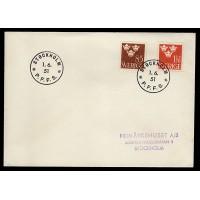 F.292+304, Tre Kronor, STOCKHOLM 1-6-51, FDC