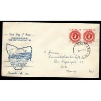 Australien, First Tasmanian Postage Stamp, FDC