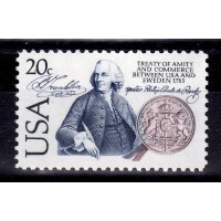 USA - SG.2016, 20c Bicentenary of Sweden - USA Treaty of Amity and Commerce, **