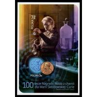 Polen - SG.4473MS, 100-årsjubileum Marie Curies Nobelpris, **