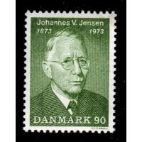 Danmark - F.565, 90 öre Johannes V Jensen, **