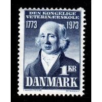 Danmark - F.567, 1 kr Kungl Veterinärskolan 200 år, **