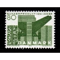 Danmark - F.544, 80 öre Sockerproduktionen 100 år, **