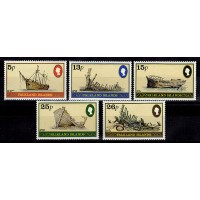 Falklandsöarna - SG.417-421, Skepp, **, postfriska
