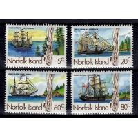 Norfolkön - SG.360-363, Skepp, **, postfriska