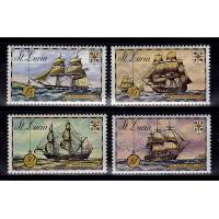 St Lucia - SG.352-355, Skepp, **, postfriska
