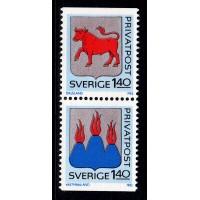 F.1206+1208SX, 1.40 kr Rabattmärken IV. Svenska landskap