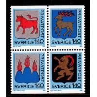 F.1206-1209HBL,  Rabattmärken IV. Svenska landskap