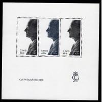F.2543+2544BL19, 10 kr Carl XVI Gustaf 60 år **, block