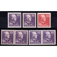 F.269-270, Gustaf V typ I **, postfrisk serie inkl. BC och CB paren