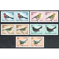 F.711-715,  Svenska fåglar **