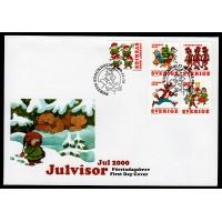 F.2219-2223, Julvisor - Inrikes julpost 16-11-00